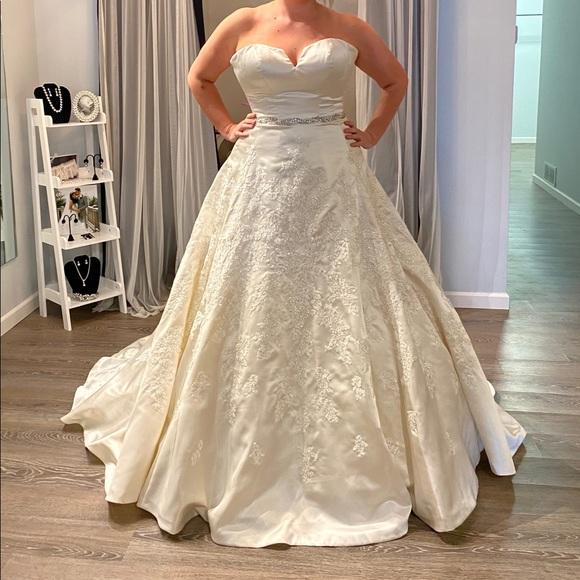 Sophia Tolli Dresses Ivory Satin Bridal Ballgownaline Dress Nwt Poshmark